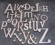 Unfinished Wooden Alphabet Set - Wooden Letters- Alphabet Wall - Mixed Fonts and Sizes- DIY- ReadyTo SHIP- Holiday Sale 15 dollars off