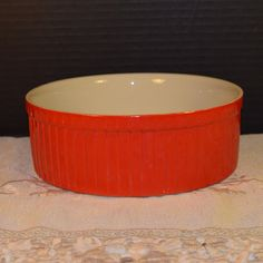 Hall Casserole Baking Dish Vintage Red by ShellysSelectSalvage
