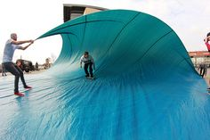Tarp Surfing! My friends have done this and it's the tightest photo shoot ever
