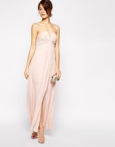 Image 1 of ASOS Soft Notch Bandeau Maxi