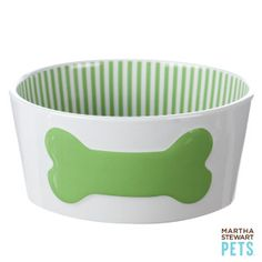 #Pet #EasterBasket Ideas - a new breakfast bowl in fun spring colors! | #MarthaStewartPets only @petsmartcorp
