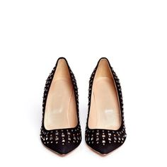 J.Crew collection Everly studded heel Gently used. Some gold missing on a few studs/beads. J. Crew Shoes Heels