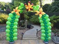 Resultado de imagen para decoraciones con globos estilo selva
