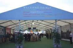 Ingresso dell'Hay Festival, festival della letteratura in Galles