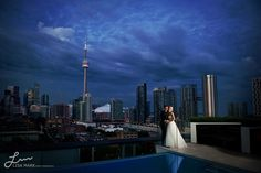 Charles & Stephanie get married on the rooftop of Thompson Toronto