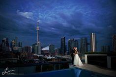 thompson toronto, wedding photography, portraits, photo idea, thompson hotel, evenings, rooftops, hotels, hotel toronto
