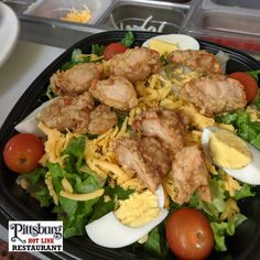 For the Salad Lovers... add Crispy or Grilled Chicken to your Salad. Fresh made, when you order... never premade and refrigerated! Crispy Chicken Salads, Grilled Chicken, Brisket, Lovers, Restaurant, Fresh, Hot, Barbecued Chicken, Diner Restaurant