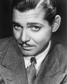 1920s mens facial hair | Clark Gable and his Moustache
