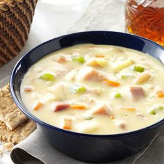 Cheddar Potato Chowder Recipe from Taste of Home -- shared by Ellie Rausch of Goodsoil, Saskatchewan