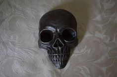 Wall Mount Skull  Hand Casted Reinforced Concrete  Hand