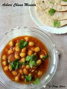 Achari Chana Masala / Chickpeas Curry with Pickle Spices :http://priyakitchenette.com/2015/12/achari-chana-masala-chickpeas-curry/