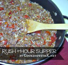 Rush Hour Supper | CookingwithK.net