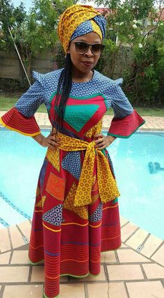 African Dresses Plus Size, African Dresses For Kids, Latest African Fashion Dresses, African Dresses For Women, African Attire, Xhosa Attire, Sotho Traditional Dresses, South African Traditional Dresses, African Print Dress Designs
