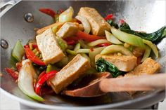 Recipes for Health - Spicy Stir-Fried Tofu With Bok Choy or Baby Broccoli - NYTimes.com