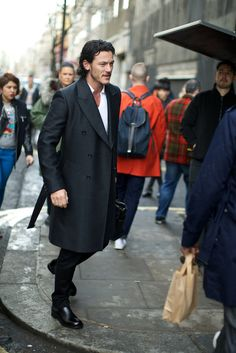 °,-,° | boyzoo:   Luke Evans at London Collections:...