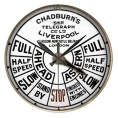 Chadburn - Ship's Telegraph - LP - Wall Clock