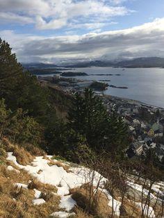 Flott utsikt frå fjell stua