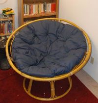 "How to Make a Papasan Chair Cushion. Do you have an old papasan or ""satellite dish"" chair with a ratty (or entirely missing! There's no need to buy a new one! You can replace it by making a new one out of a few old bed pillows. Papasan Cushion, Papasan Chair, Chair Cushion Covers, Chair Cushions, Pillow Covers, Big Comfy Chair, White Dining Room Chairs, Old Pillows, Do It Yourself Furniture"