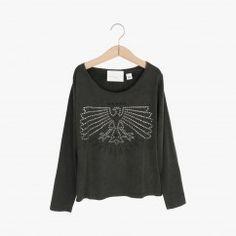 T-shirt en coton aigle - UNE FILLE #TODAYIAM#ParisVuAuBonMarche #LeBonMarche #VuAuBonMarche #Exposition #Exhibition #Paris #Ville #Mode #Fashion
