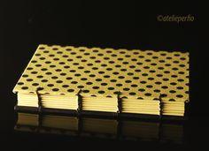 Caderno copta preto  amarelo! É mto charme..  www.atelieperfio.com.br