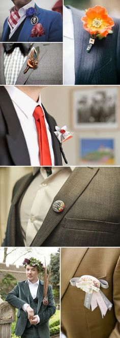 alternative buttonhole boutonniere ideas