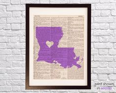 Louisiana Dictionary Print  New Orleans Art  Print by DictionArt