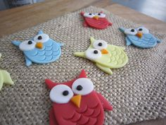 Owl Fondant Toppers Cupcake Cookie