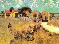 Farmhouse in Provence, 1888 by Vincent van Gogh. Post-Impressionism. landscape