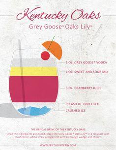 Kentucky Oaks official drink: Oaks Lily! Enjoy (cheap party drinks alcohol)