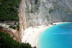 Porto Katsiki on Lefkada's west coast, in the Ionian Islands.