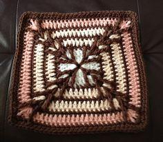 Migration - free 9 inch crochet square pattern by Kris Kelln. Crochet Square Patterns, Crochet Blocks, Crochet Squares, Crochet Granny, Crochet Motif, Crochet Afghans, Granny Square Afghan, Granny Squares, Crochet 101