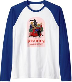 Amazon.com: Bedtime Stories With Baphomet Funny Dark Humor Satan Raglan Baseball Tee : Clothing, Shoes & Jewelry