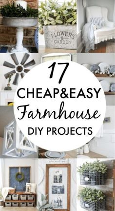 DIY Farmhouse decor ideas that are so easy to do you have no excuse not to try them! These cheap DIY rustic decor projects will change the look of your bedroom, mantle, living room, and bathroom on a small budget! Vintage farmhouse decor cheap, diy rustic bedroom design ideas. #Farmhouse #FarmhouseDIYS #DIYFarmhouseProjects #DIYFarmhouseCrafts