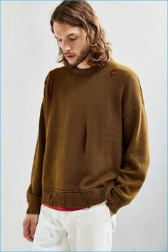 Urban Outfitters Cedar Distressed Men's Sweater
