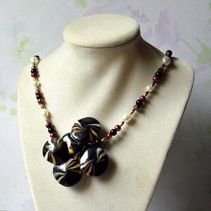 Lentil Swirl Necklace with Fresh Water Pearls