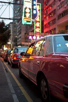 Hong Kong Red Taxis