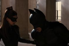 TDKR: Batman (Christian Bale) and Catwoman (Anne Hathaway)