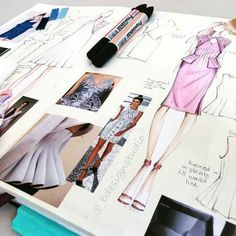 Fashion design sketches 652529433489673879 - ketchbooking day ❤️ Source by prescilliaehadi Fashion Design Sketchbook, Fashion Design Portfolio, Fashion Design Drawings, Illustration Mode, Fashion Illustration Sketches, Fashion Sketches, Illustrations, Fashion Books, Fashion Art