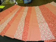 Modest Mama: 5 Days of Sewing a Skirt...panels look like they are twice as wide on the bottom as the top.  NOTE