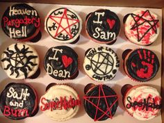 Supernatural 200th episode cherry cupcakes!