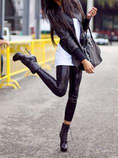 love the leggins #fall fashion trends 2013