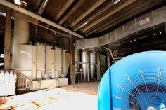 Scrubber orizzontale a due stadi / tre reagenti, per la deodorizzazione dell'aria nella essiccazione di fertilizzanti