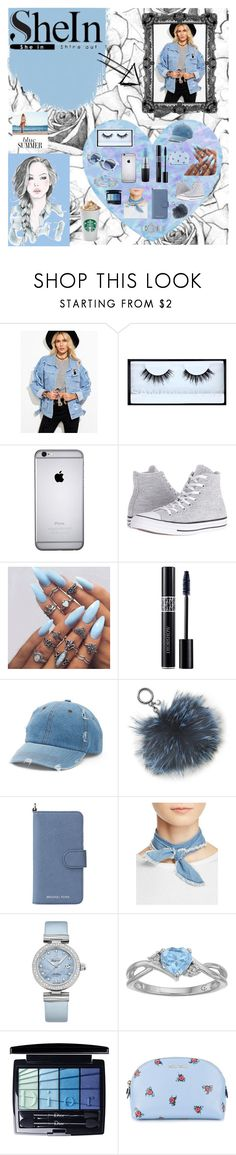 """Blue Denim-SheIn contest"" by rebeka-drnovsek ❤ liked on Polyvore featuring GE, Huda Beauty, MAC Cosmetics, Pinko, Converse, Christian Dior, Mudd, Michael Kors, MICHAEL Michael Kors and donni charm"