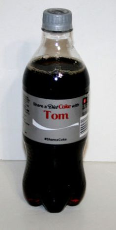 Share-a-Coke-Bottle-TOM-Diet-Coca-Cola-20-Oz-Ounce-2014-Limited-Edition