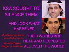 @PeterTatchell #FreeRaifBadawi #FreeWaleedAbulKhair