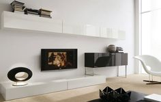 contemporary lacquered TV wall unit ALL DAY 15 md house