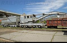 This rare Union Pacific 120-ton steam derrick is preserved at the Utah State Railroad Museum in Ogden, Utah. No. 903037 was built by the Industrial Works as UP derrick 02781, and donated to the museum upon retirement in 1978. Of greater interest (at least to me) is Oregon Short Line tender 902207, mated to the derrick since the 1960s. It was built in 1923 and was assigned at one time to Union Pacific (OSL) 4-6-2 3129.