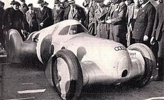 1935 Auto Union Type C Hans Stuck also Managed to Break Speed Records, Reaching 199 mph on an Italian Autostrada in a Streamlined Car with Enclosed Cockpit. Lessons Learned from this Streamlining were Later Applied to the T80 Land Speed Record Car