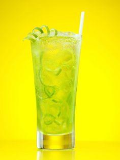 Midori Shamrock...•1 part Midori   •1 part Skyy vodka   •Splash of club soda