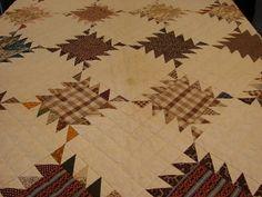antique quilt sawtooth c 1840